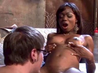 This ebony nympho loves a white boy\'s attention