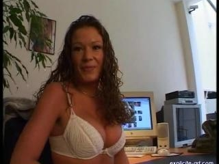 Derewella  : Very first porn casting video of a be
