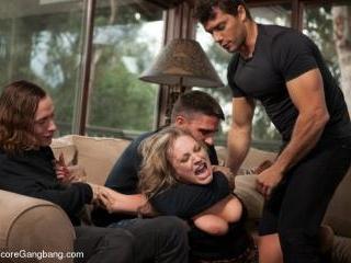 Slutty Step-Sisters get Gangbanged by 8 Men!!