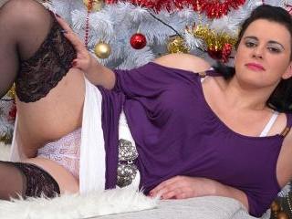 Naughty housewife masturbating under the christmas