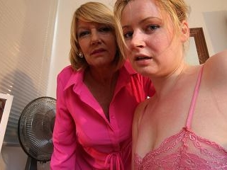 Horny old and young lesbian couple from the UK get