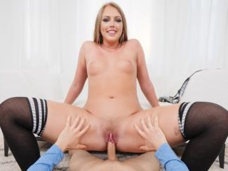 Blonde Teen Ashley Red Is Fucked Hard In POV
