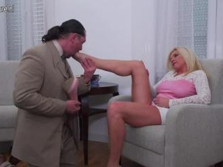 Hot housewife fucking and sucking her lover
