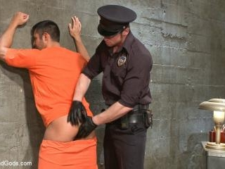 New muscled inmate at the mercy of Officer Connor
