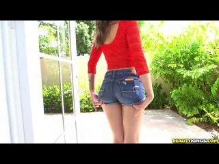 Liza deep-throats a huge cock