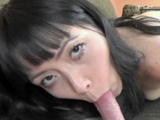Japanese hottie Yuka Ozaki is down on her knees wh
