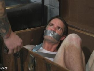 Hot Muscular Convict Torments His Duct-Taped Capti