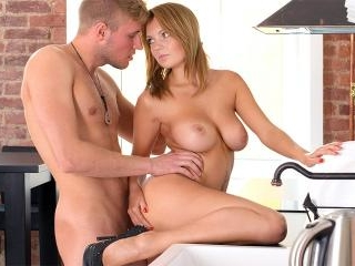 Busty Teen Lanasse Gets Fucked in the Kitchen