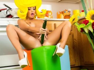 Surreal Kitchen dress up with Abigail Mac and her