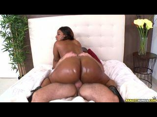 Layla rides cowgirl and gets pounded doggy style
