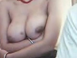 Shy Indian GF shows her big juggs
