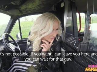 Big Tits Blonde Fucks her Passenger