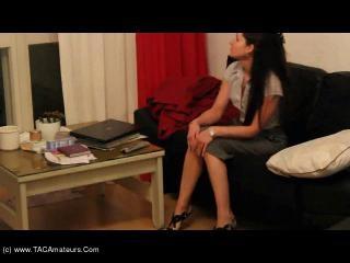 Masturbating over a porn video