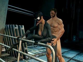 Woiverine Loves Catwoman - Best 3D hentai porn wor