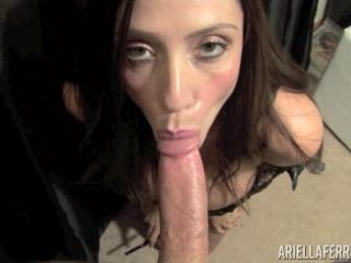 Ariella Ferrera Smokes and Sucks Cock