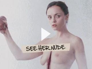 Christina Ricci reveals pointy nips and white pant