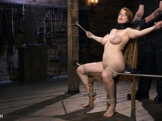 Red Headed Slut is Bound, Tormented, Double Penetr