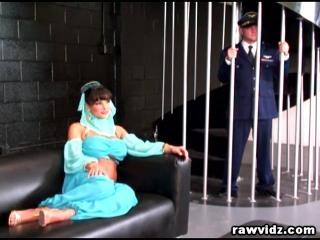 Lisa Ann Busty Genie Rides Captain\'s Hard Dick