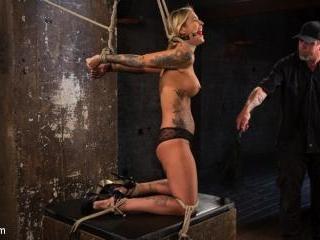ALT Tattooed Pain Slut Submits in Grueling Bondage