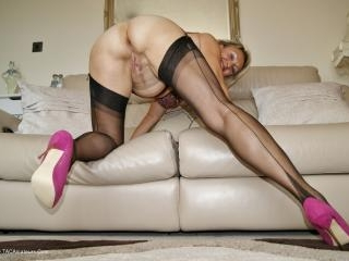 Spunking All Over My Nylons
