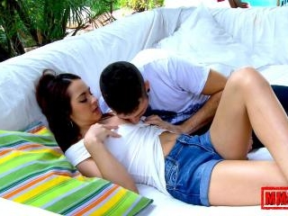 Sweet and pretty teen making love... and having se