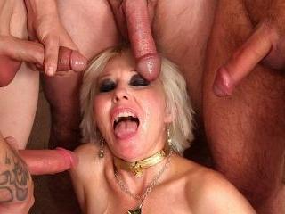 Dalny Marga - Mature blond Dalny Marga gets gangba