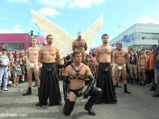Folsom Street Whore tormented in front of thousand