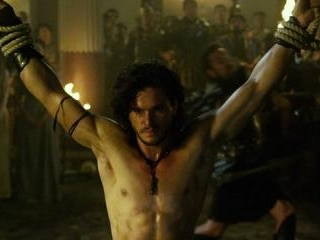 Kit gets his ripped and sweaty body whipped. Gotta