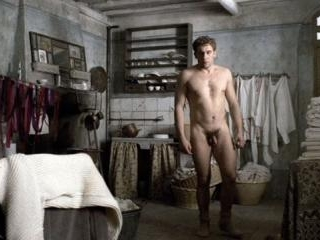 Robert and Gerard strip down and receive a tug fro