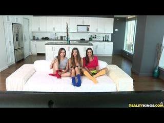 Randy roomies Abigail  Ariana  and Niki pleasure e