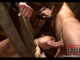 Beauty punished with a pounding!