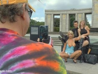 Horny Blonde Anal Slut Disgraced for Berlin Touris