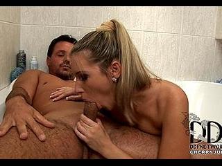 Creamed on her Kisser!
