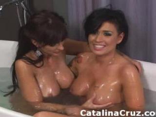 Eva Angelina taking hot bath Catalina Cruz
