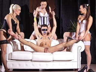 FemDom Paradise: Three Glamour Dominas Humiliate G