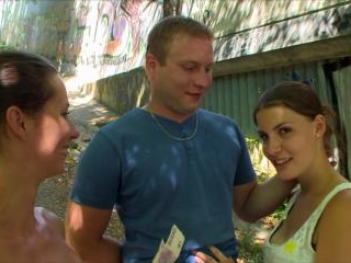CZECH COUPLES Young Couple Takes Money for Public