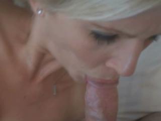 Blonde housewife Jolene fucks her toys while sucki