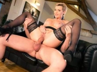 Russian MILF Romanced In Stockings