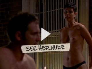 Morena Baccarin exposes sexy tits and ass while ri
