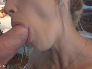 Deep throat spunk queen