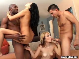 Hot Babes Loving 4some