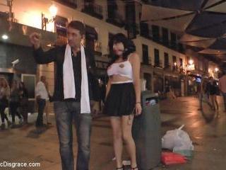 Sexy whore Damaris humiliated in public