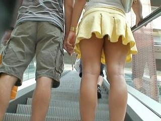 Following the pretty teen girl and trying to see t